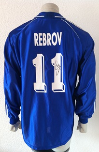 Dynamo Kyiv Kiev match shirt 1999/00, worn by Serhiy Rebrov