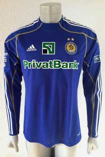 Dynamo Kyiv Kiev match shirt 10/11, worn by Roman Eremenko