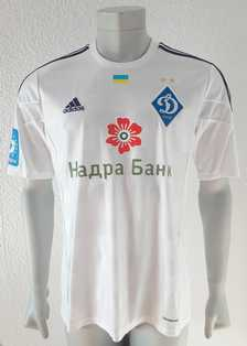 Dynamo Kyiv Kiev match shirt 14/15, worn and signed by Yevhen Makarenko