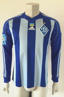 Dynamo Kyiv Kiev match shirt 14/15, worn by Serhiy Rybalka, made by Adidas