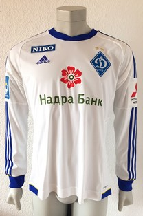 Dynamo Kyiv Kiev match worn shirt 13/14, by Oleh Gusiev